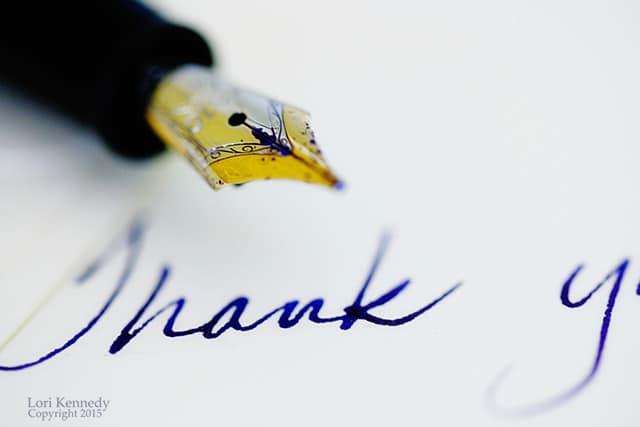 Thank You, Montblanc, Fountain pen
