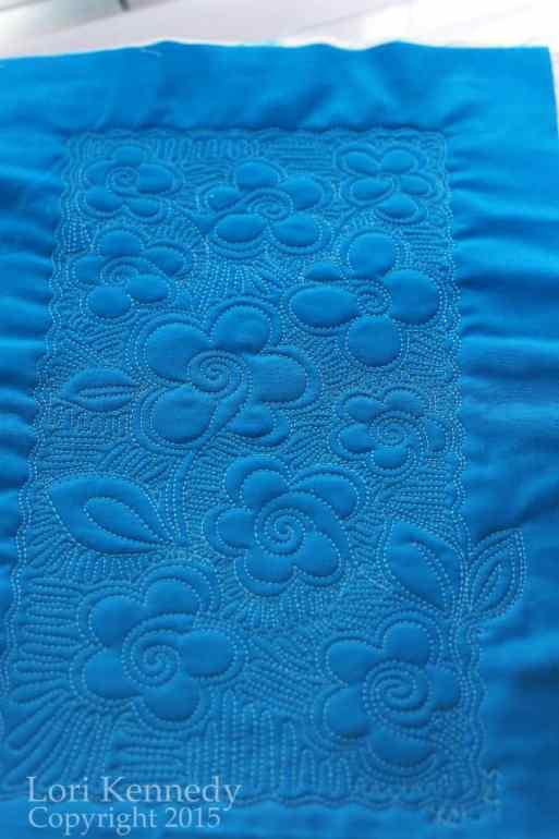 Blue Flowers, FMQ