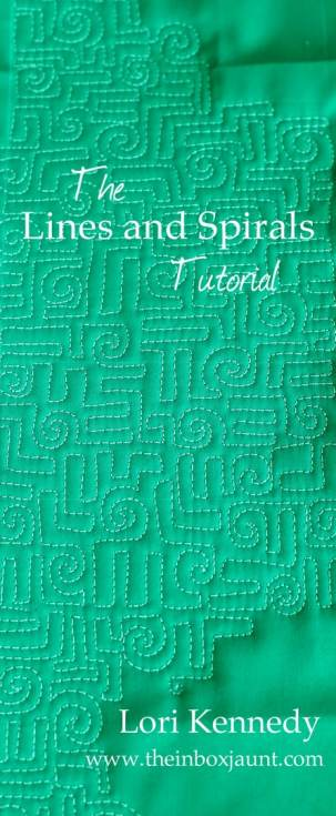 Lines and Spirals Free Motion Quilting