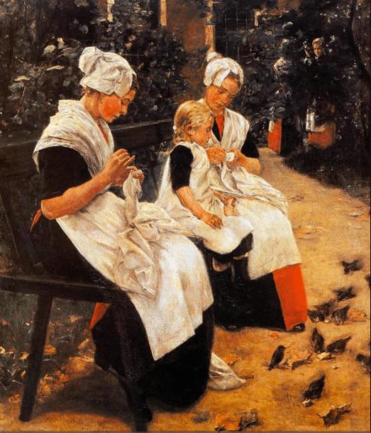 Amsterdam Orphans in the Garden, Max Lieberman