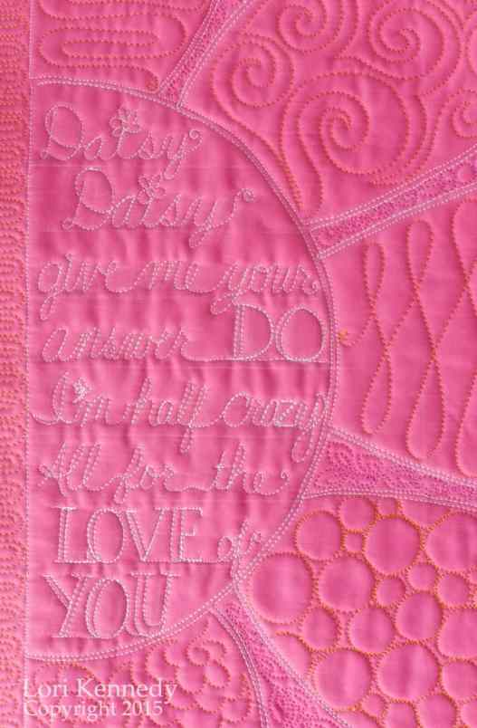 Daisy Quilt, Free Motion Quilting