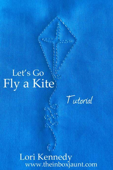 Kite, Free Motion Quilting