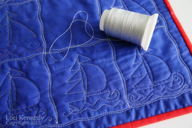 Thread, Sailboats, Free Motion Quilting