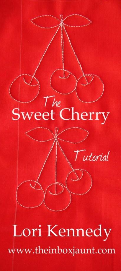 Cherries, Free Motion Quilting, BERNINA 770QE