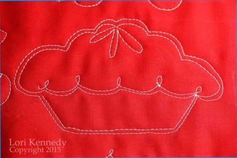 Cherry Pie, Free Motion Quilting