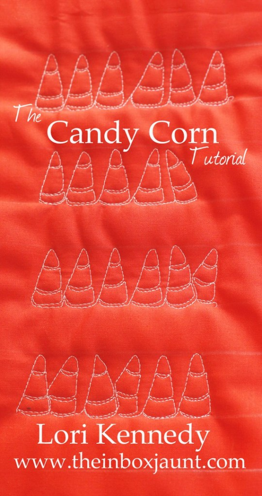 How to Machine Quilt Candy Corn Pattern