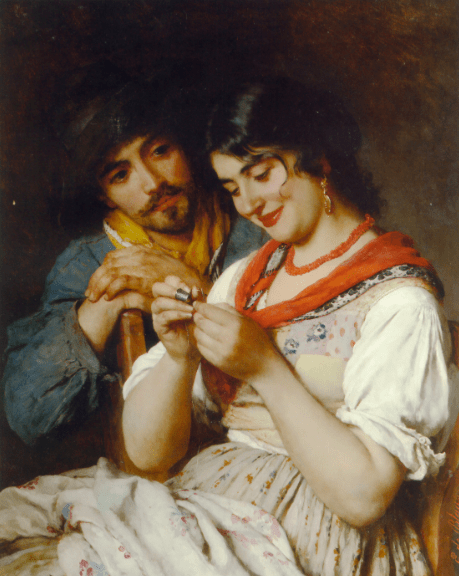 Eugene de Blaas, The Seamstress