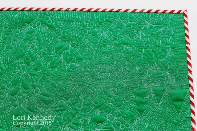 Christmas, Free Motion Quilting, LKennedy
