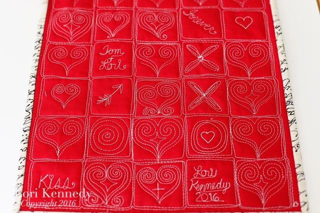 Grid Heart Quilt, Lori Kennedy
