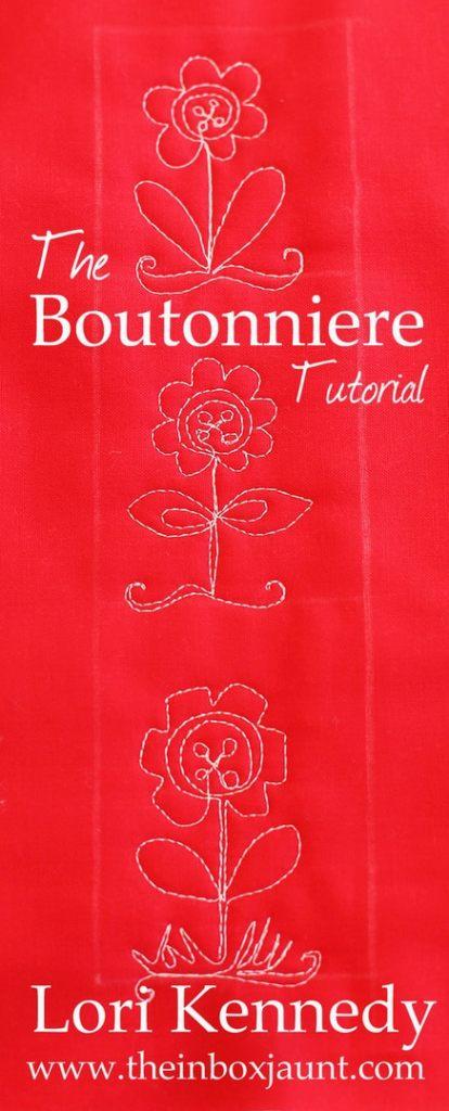 Boutonniere, Free Motion Quilting, Lori Kennedy