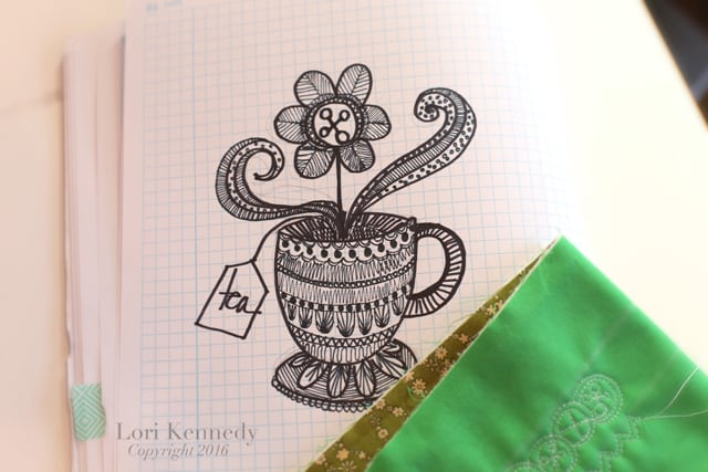 Teacup Doodle, Zentangle, Lori Kennedy