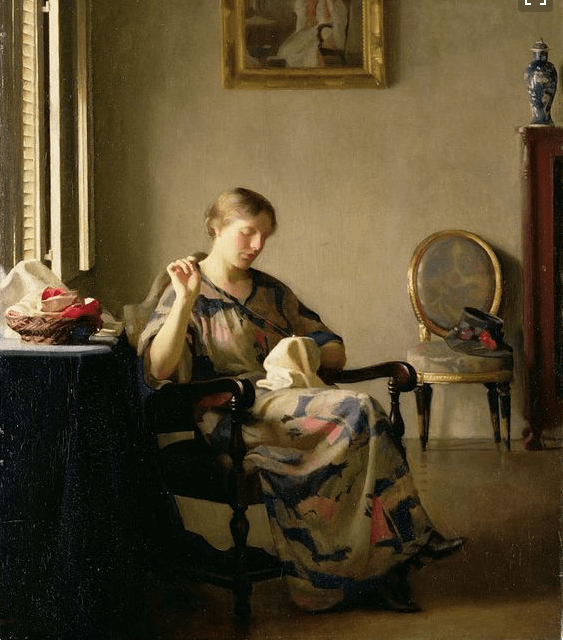 Woman Sewing, McGregor-Paxton