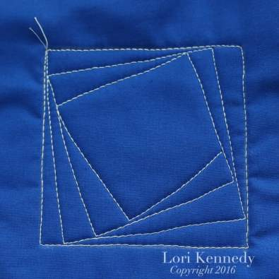 Machine Quilting, Tutorial, Lori Kennedy, Spinning Squares