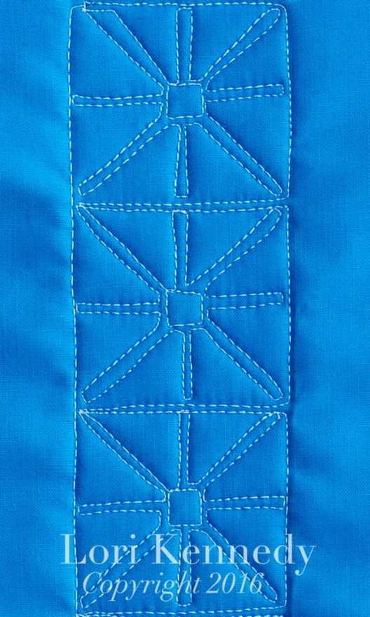 Machine Quilting, Basic Block, Lori Kennedy