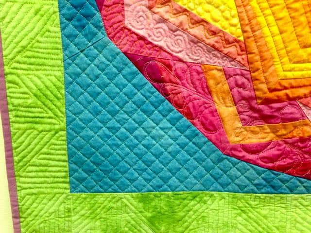 Kaleidoscope Quilt, Lori Kennedy, quilted by Patricia Cavaliere