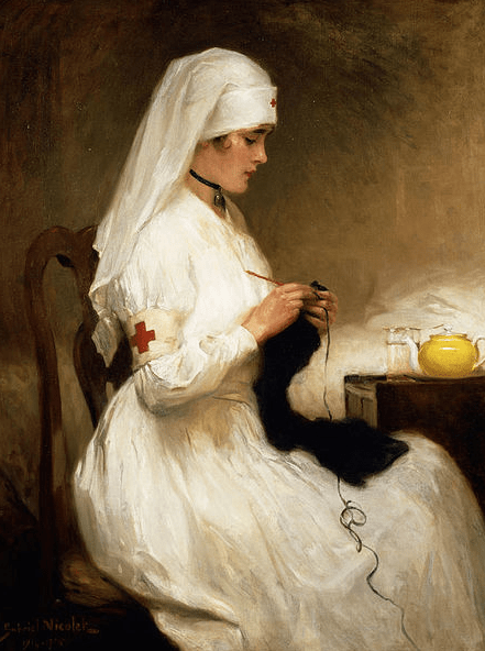 Nurse Knitting, Richard Emil Nicolet