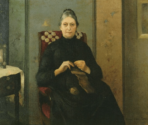 Grandmother Knitting, Edmund Charles Tarbell