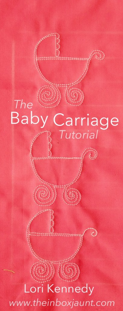 Machine Quilting, Tutorial, Baby Carriage