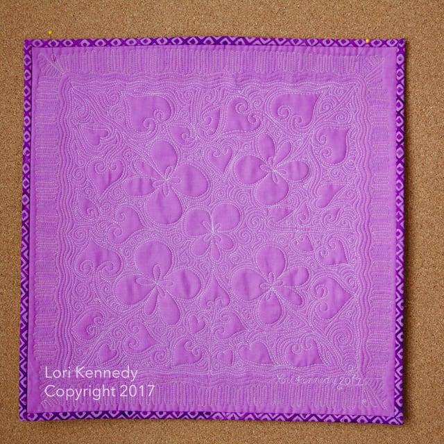 Violets, Machine Quilting, Lori Kennedy