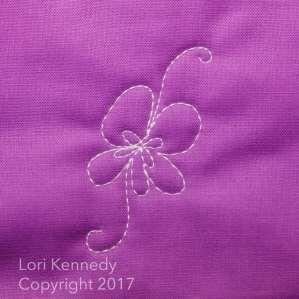 Lori Kennedy, Machine Quilting, Violets