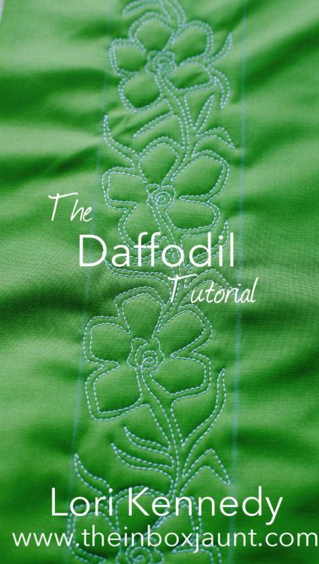 Daffodil, Machine Quilting, Lori Kennedy