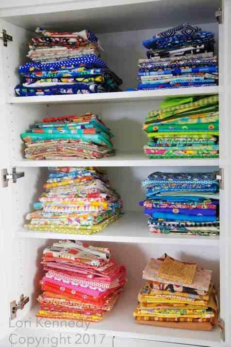 Quilt Room Organization