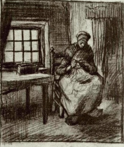 Van Gogh, Woman Sewing