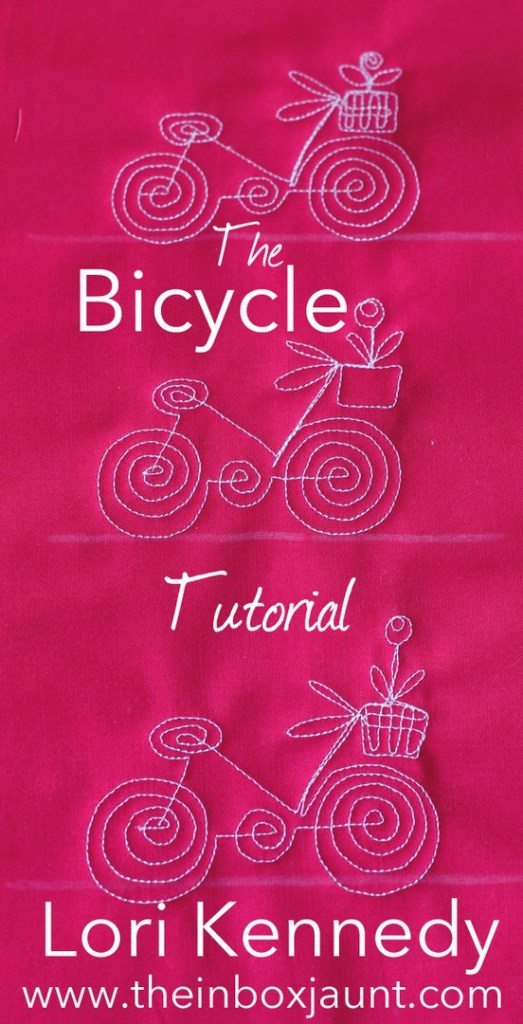 free motion quilting, bicycle