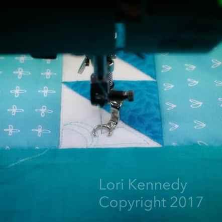 HST Flowers, Machine Quilting, Lori Kennedy