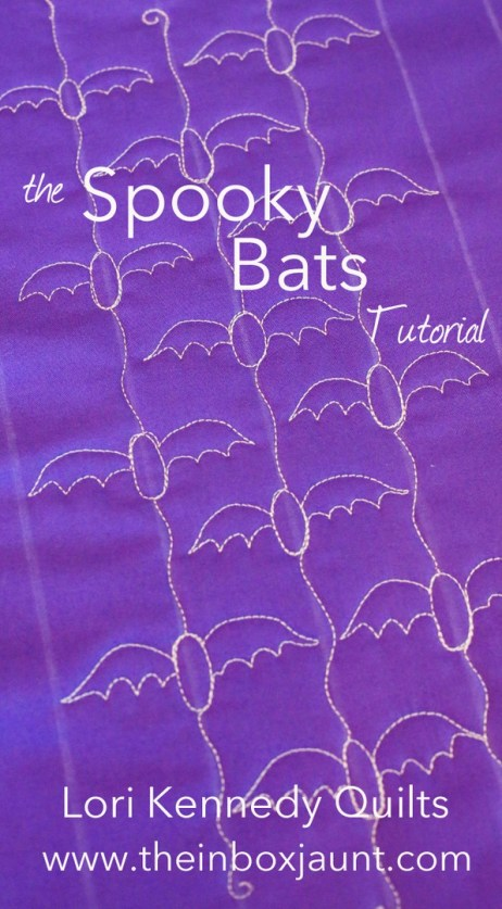 Machine Quilting Tutorial, Bat, Halloween