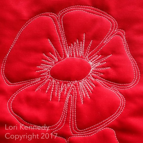 Lori Kennedy Quilts, Machine Quilting Tutorial, Poppies