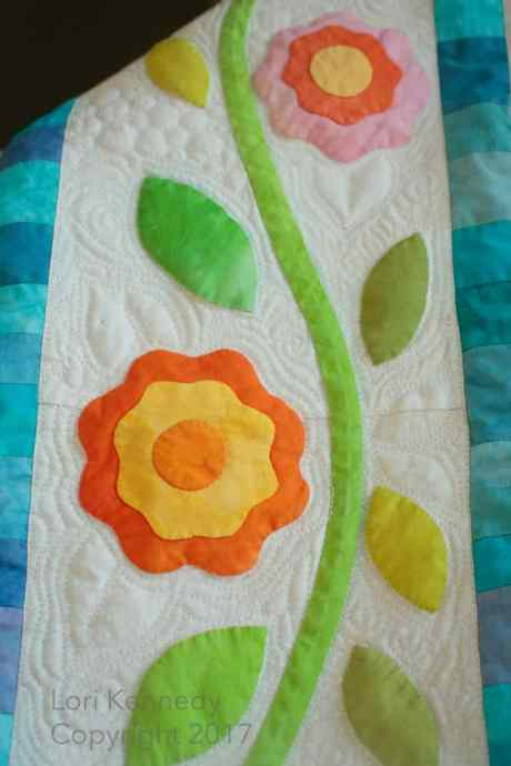 Lori Kennedy, Machine Quilting, Applique, Boxes and Vines
