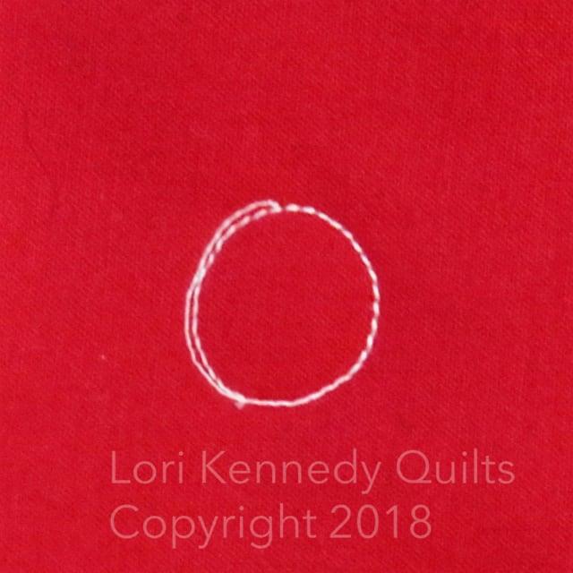Lori Kennedy, quilted ladybug
