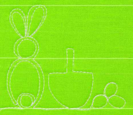 Spring Baby Bunny, More Free Motion Machine Quilting 1-2-3, Lori Kennedy