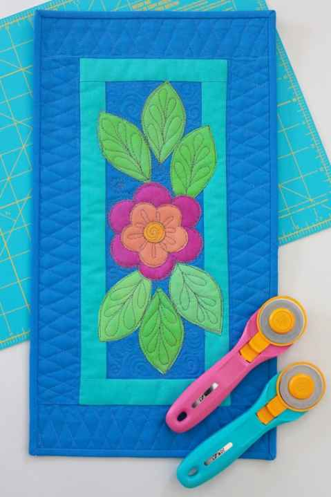 Small floral quilt