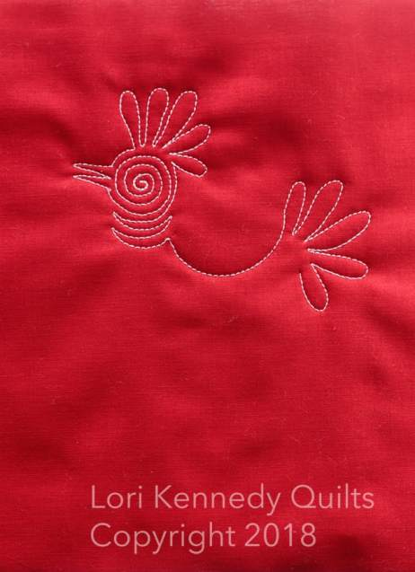 Lori Kennedy, Rooster, Machine Quilting