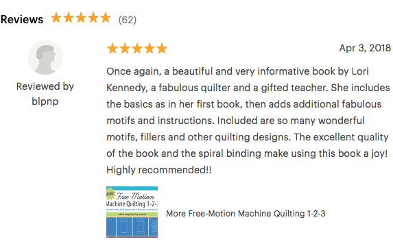 Book Reviews, MORE Free Motion Machine Quilting 1-2-3