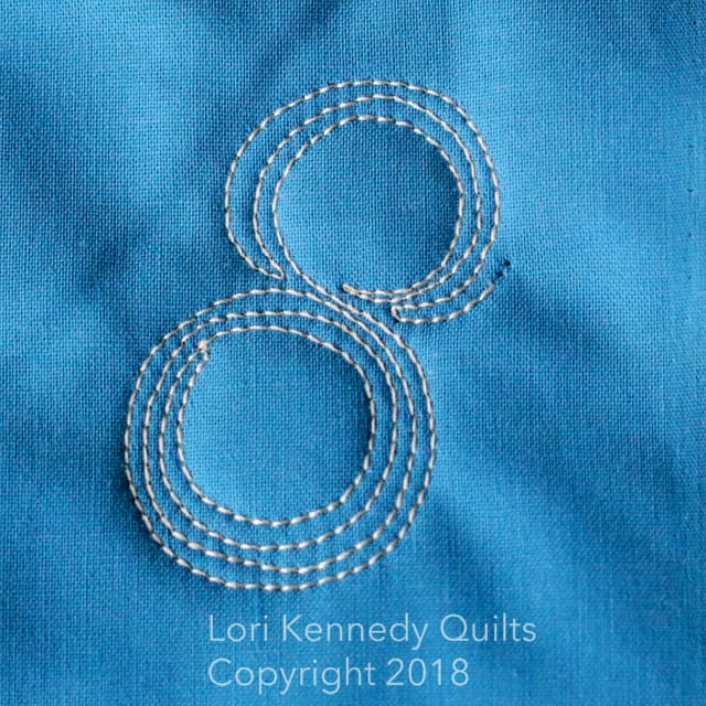 circle pop, machine quilting tutorial, Lori Kennedy