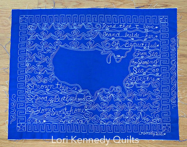 Land that I Love, Quilt, Machine Quilting, Lori Kennedy