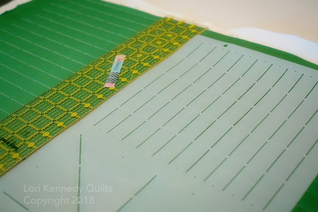 How to mark grid lines for quilting
