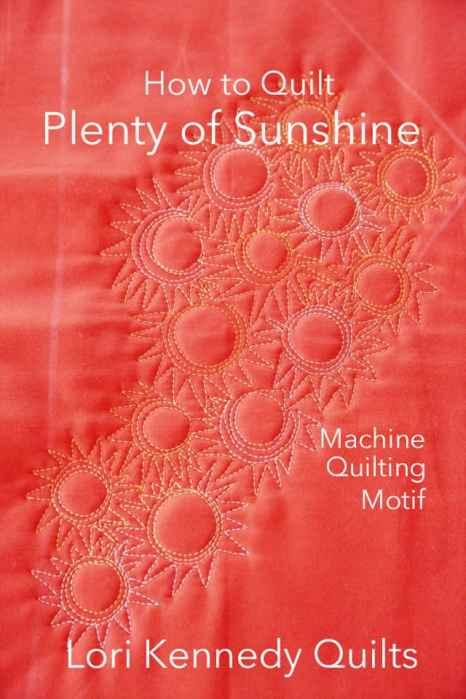 Sun quilting motif