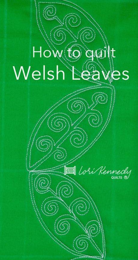 Welsh Leaf Motif, Machine Quilting