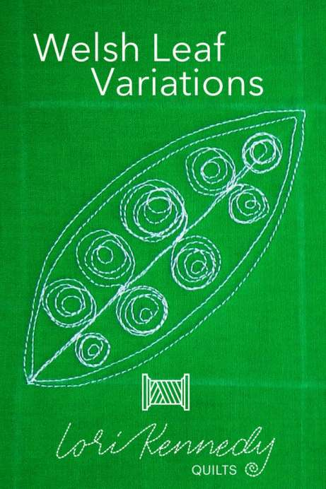Welsh Leaf Variation with Messy Spirals, FMQ