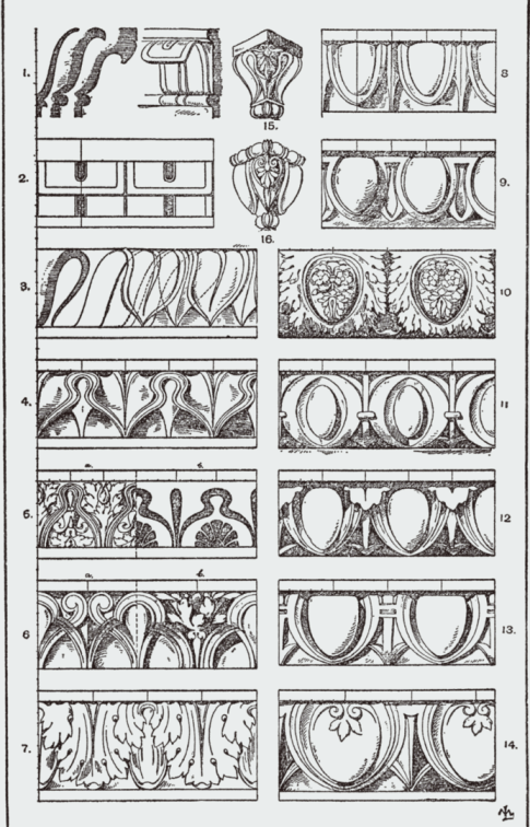 Classical Architecture, Egg and Dart Motif