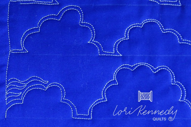 How to quilt clouds, step two