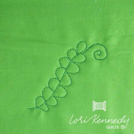 How to machine quilt Ferns and Fiddleheads, Step 5