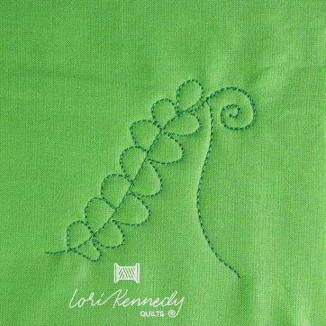 How to machine quilt Ferns and Fiddleheads, Step 6