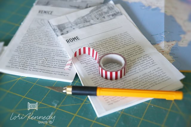 Washi tape and Rick Steves Guide book