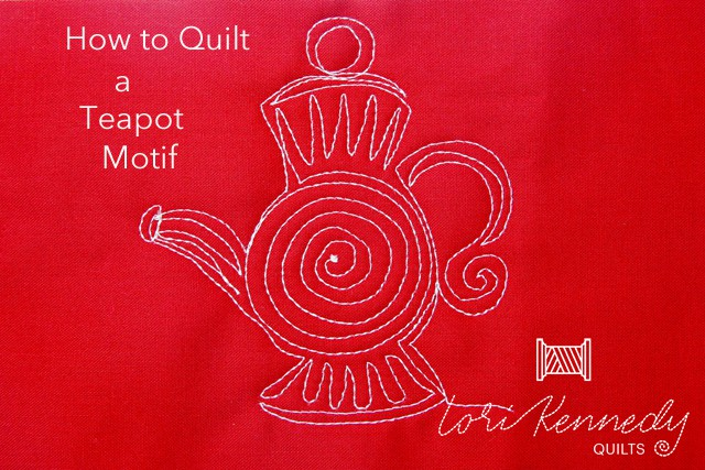 How to Machine Quilt a Teapot Pattern