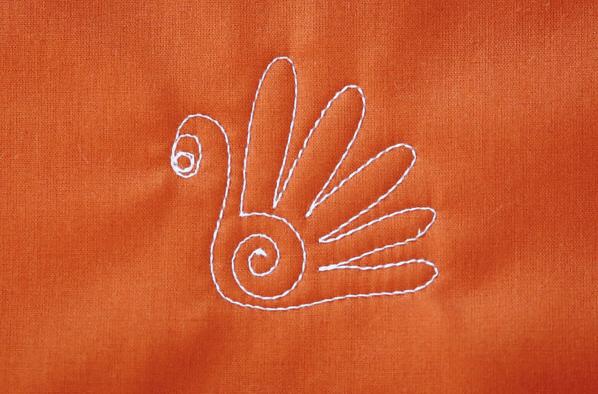 Tom the Turkey quilt pattern